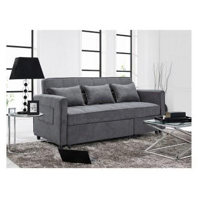 Scarlett Convertible Sofa Gray   Relax A Lounger : Target