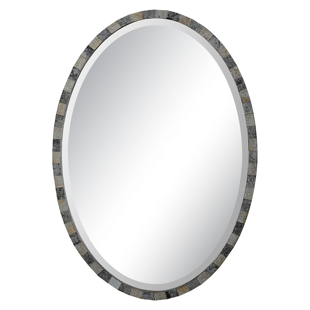 Oval Paredes Mosaic Decorative Wall Mirror Gray - Uttermost, Shades Of Gray