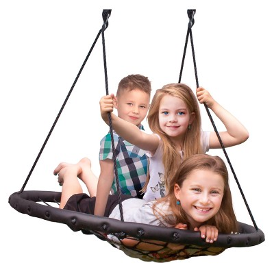 Web Spinner Swing 40  Diameter - Black - Sorbus