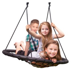 "Web Spinner Swing 40"" Diameter - Black - Sorbus"