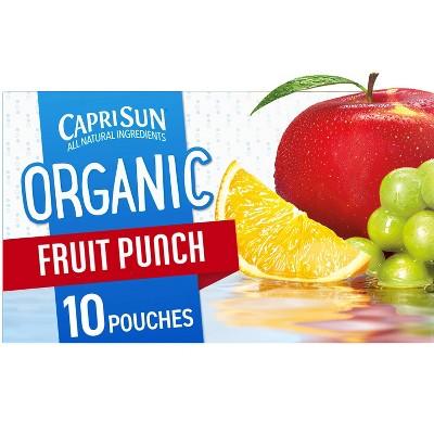 Capri Sun Organic Fruit Punch - 10pk/6 fl oz Pouches