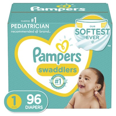 Pampers Swaddlers Disposable Diapers Super Pack - Size 1 (96ct)