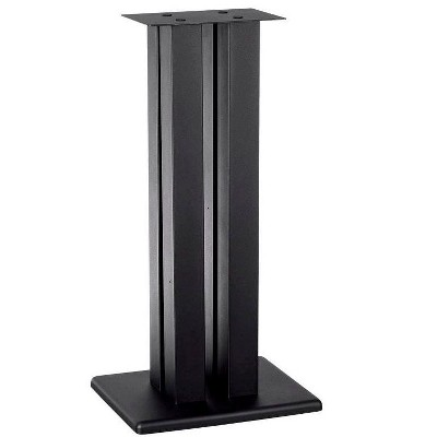Monolith 28 Inch Speaker Stand (Each) - Black | Supports 100 lbs, Adjustable Spikes, Compatible With Bose, Polk, Sony, Yamaha, Pioneer and others