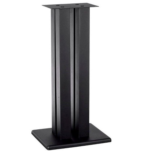 Monolith 28 Inch Speaker Stand (Each) - Black | Supports 100 lbs, Adjustable Spikes, Compatible With Bose, Polk, Sony, Yamaha, Pioneer and others - image 1 of 4