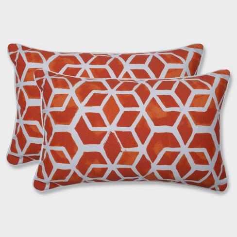 2pk Celtic Marmalade Rectangular Throw Pillows Orange - Pillow Perfect - image 1 of 1