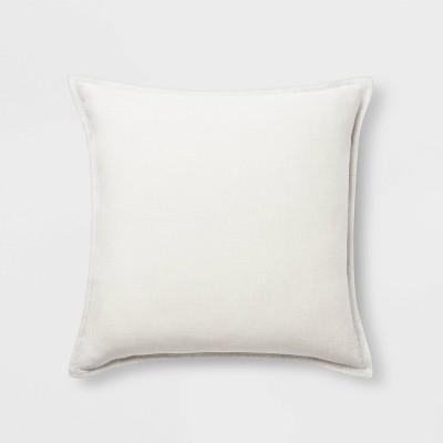 Square Linen Pillow White - Threshold™