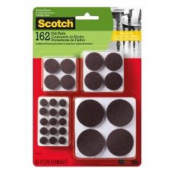 Scotch 162pk Felt Pads Brown