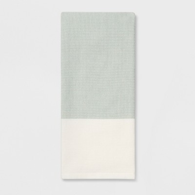Color Block Dual Sided Terry Kitchen Towel White/Green - Project 62™