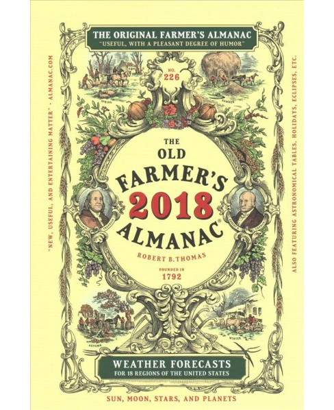 Old Farmer's Almanac 2018 -  (Old Farmer's Almanac) (Paperback) - image 1 of 1