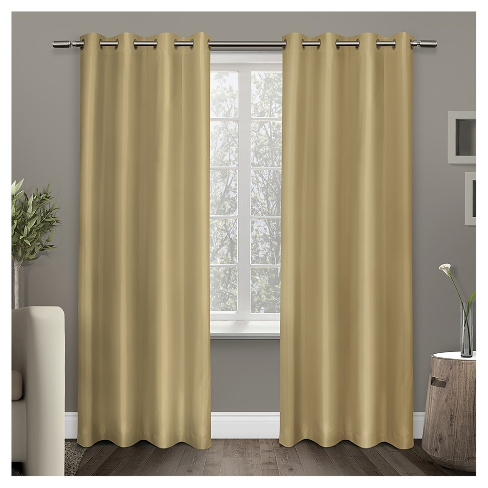 Exclusive Home Shantung Curtain Panels - Set of 2 Panels - Bone (Ivory) - 54
