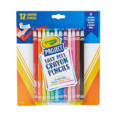 12ct Crayola Project Easy Peel Crayon Pencils