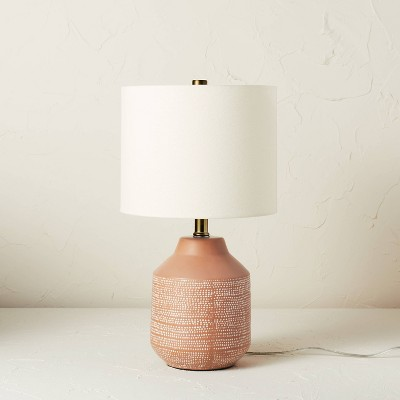 Ceramic Table Lamp Terracotta (Includes LED Light Bulb) - Opalhouse™ designed with Jungalow™