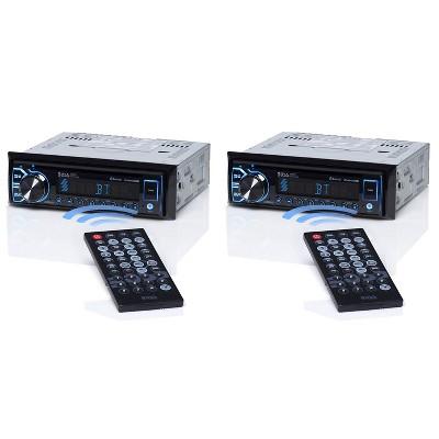 BOSS BV6658B 50 Watt 4 Max Power Single-DIN DVD Receiver with Bluetooth (2 Pack)