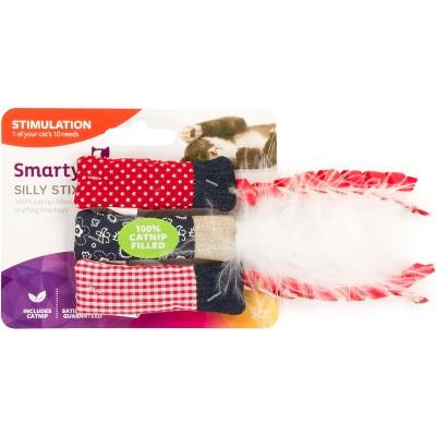 SmartyKat Silly Stix 100% Catnip Filled Cat Toy - Set of 3