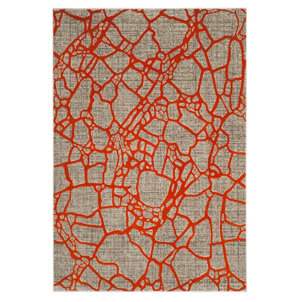 Light Gray/Orange Pebble Loomed Area Rug 8'2X11' - Safavieh, Light Graynorange