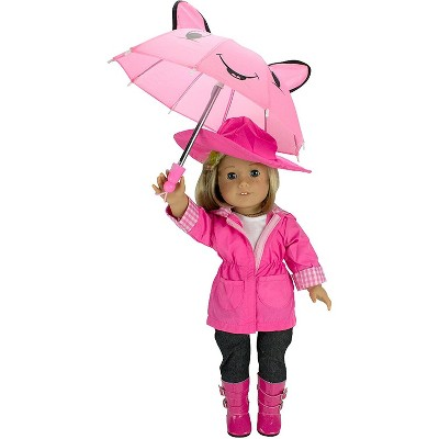 Dress Along Dolly Rainy Day Outfit for American Girl Doll