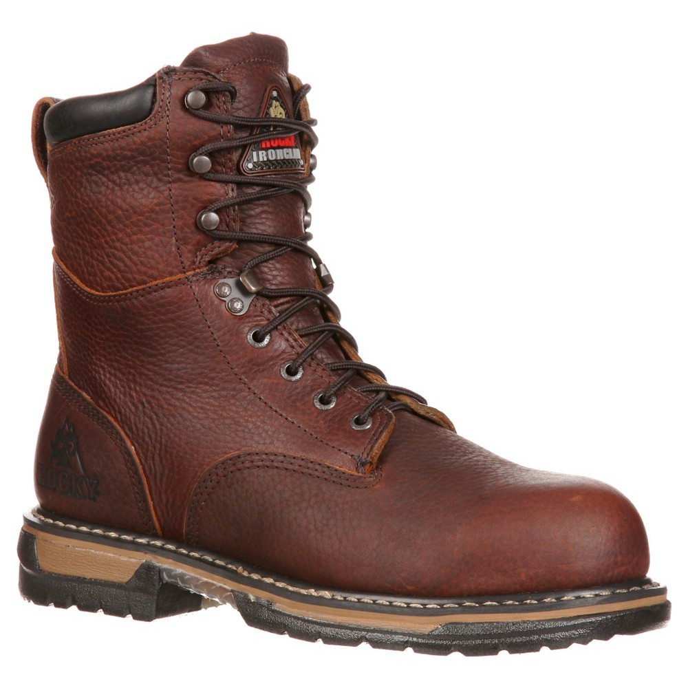Men's Rocky Wide Width Iron Clad Boots - Brown 10W, Size: 10 Wide