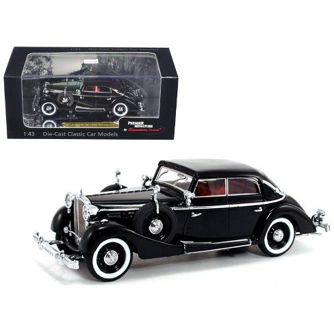 1937 Maybach SW38 Spohn 4 Doors Black Convertible 1/43 Diecast Car Model by Signature Models - image 1 of 1