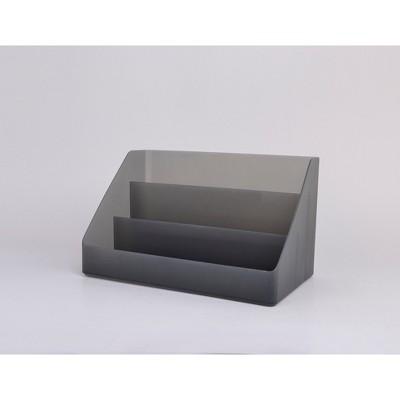 Plastic Desktop Organizer Large Dark Gray - Made By Design™