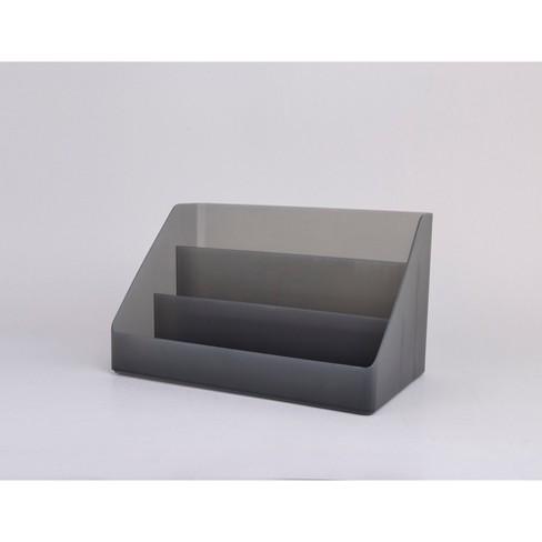 Plastic Desktop Organizer Large Dark Gray - Made By Design™ - image 1 of 3