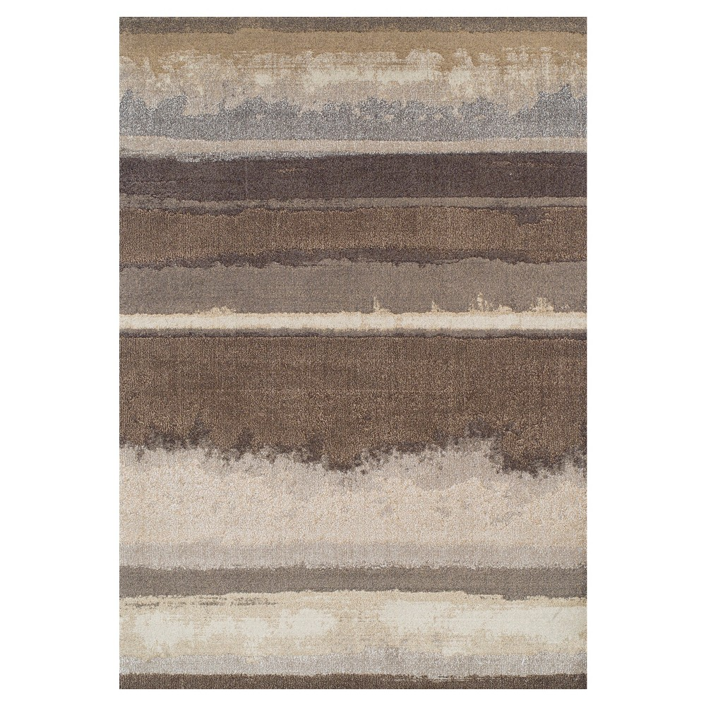 Mocha (Brown) Solid Woven Area Rug 9'6X13'