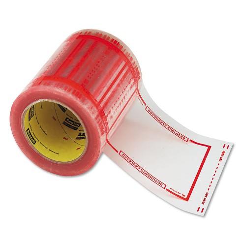 "Scotch Pouch Tape 5"" x 6"" Transparent w/Orange Border 500/Roll 82405 - image 1 of 4"