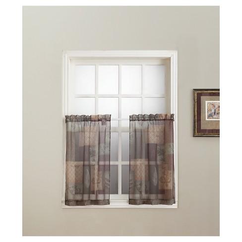 No. 918 Eden Inspirational Theme Kitchen Curtain Tier Pair - image 1 of 2