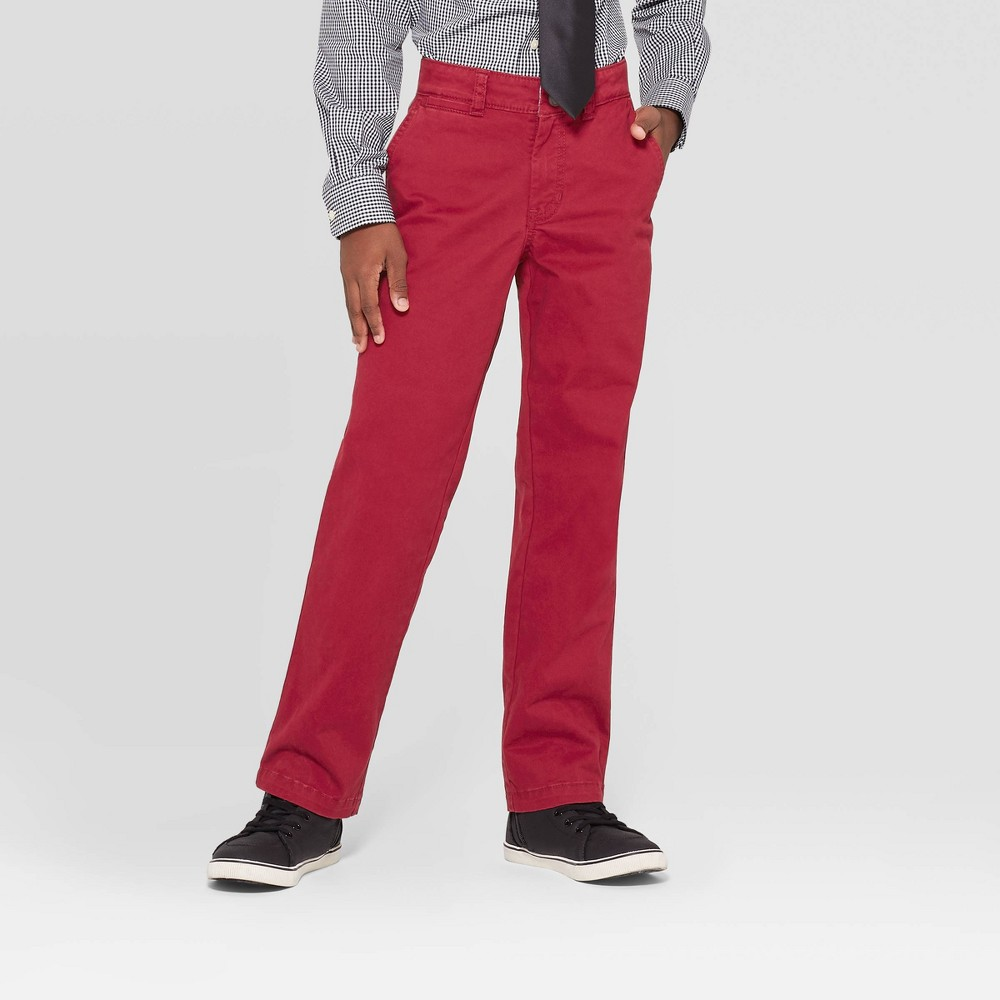 Image of Boys' Chino Pants - Cat & Jack Maroon 14, Boy's, Red