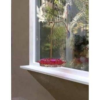 "14"" Hummingbird Feeder with Hook Pink - Ultimate Innovations"