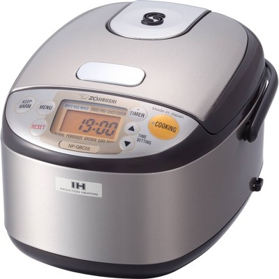 Zojirushi Induction Heating Rice Cooker & Warmer, 3 cups (uncooked), Stainless Dark Brown, Made in Japan