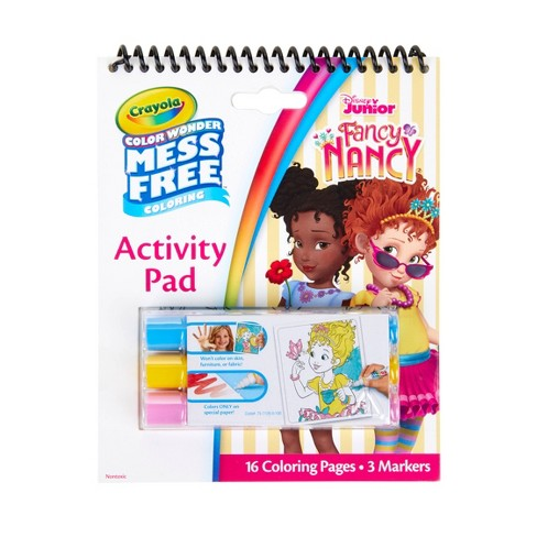 Crayola Disney Fancy Nancy 16pg Color Wonder Travel Activity Pad (with 3 Color Wonder Markers) - image 1 of 4
