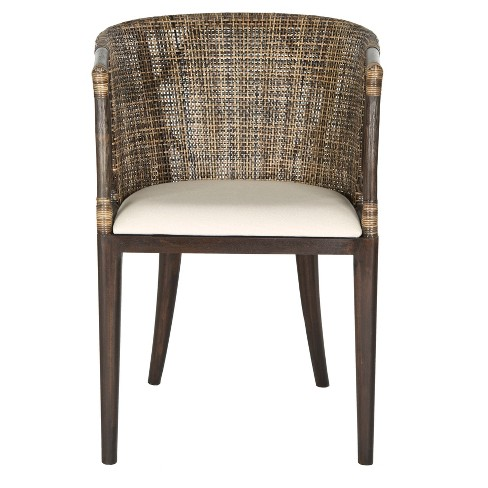 Dining Chair Wood/Brown/Black - Safavieh® - image 1 of 5