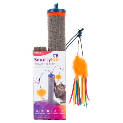 SmartyKat Scratch and Spin Carpet Cat Scratcher