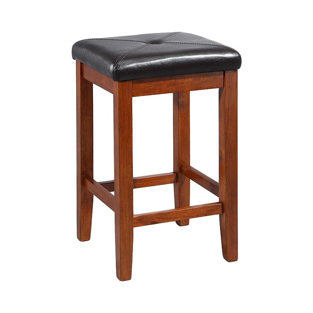 "Image of ""24"""" Square Counter Stool Cherry (Set of Two) - Crosley"""