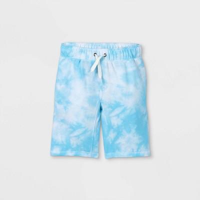 Boys' Tie-Dye Pull-On Shorts - Cat & Jack™ Blue/White