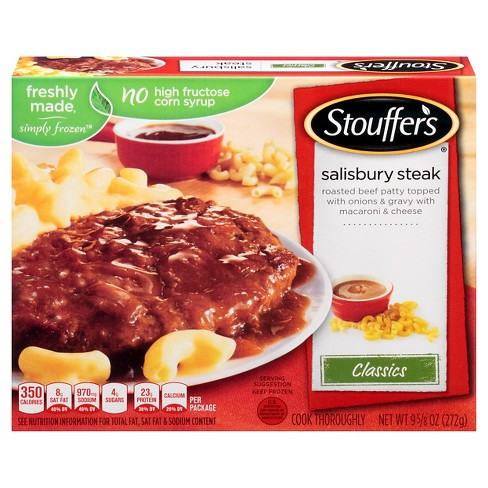 Stouffer's Homestyle Classics Frozen Salisbury Steak with Macaroni and Cheese - 9.625oz - image 1 of 1