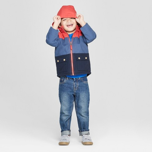 2bfd96698 Genuine Kids® from OshKosh Toddler Boys' Canvas Colorblock Jacket - Red/Blue