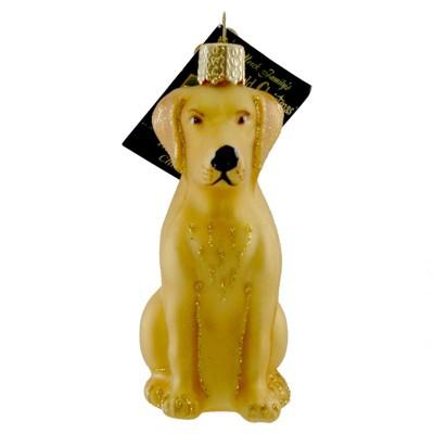 "Old World Christmas 4.0"" Labrador Retriever Yellow Dog Lab Best Friend  -  Tree Ornaments"
