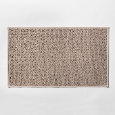 34 x20  Solid Diamond Weave Kitchen Rug Natural - Made By Design™