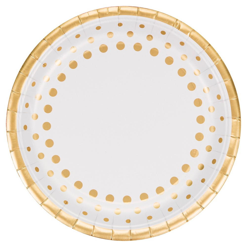 Sparkle and Shine Gold 10 Banquet Plates - 8ct