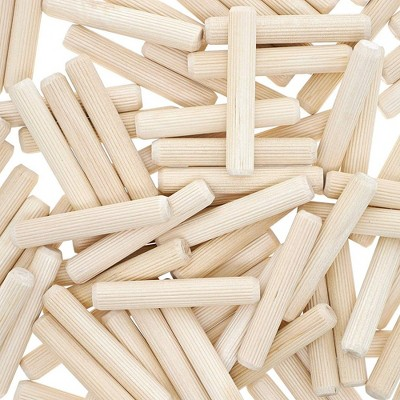 Bright Creations 100-Pack Wood Dowel Rod Pins for furniture repairs DIY Arts and Crafts, 2.3x0.4 in