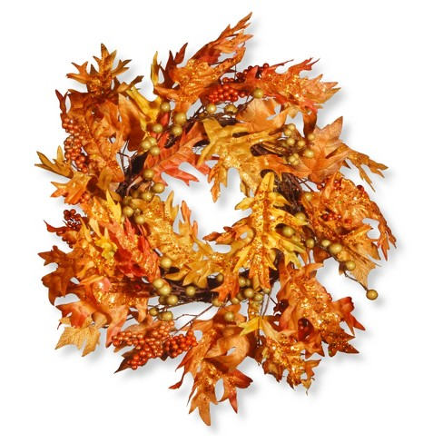 """24"""" Maple Leaf and Berry Wreath - National Tree Company - image 1 of 2"""
