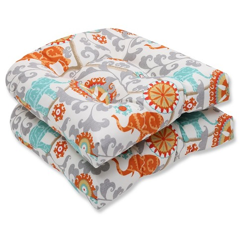 Pillow Perfect Menagerie Cayenne Outdoor Cushion Set - Gray - image 1 of 1