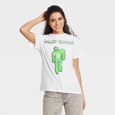 Women's Billie Eilish Symbol Short Sleeve Graphic T-Shirt - White