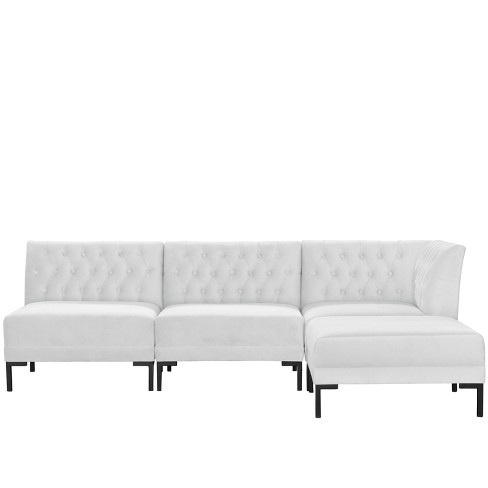 4pc Audrey Diamond Tufted Sectional