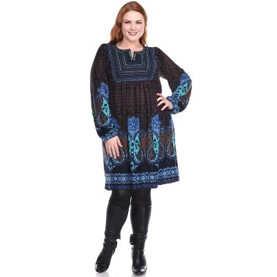 Women's Plus Size Phebe Embroidered Sweater Dress - White Mark