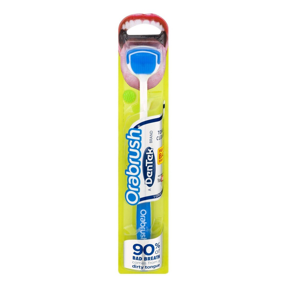 Image of Orabrush Tongue Cleaner by DenTek Helps Fight Bad Breath - 1ct