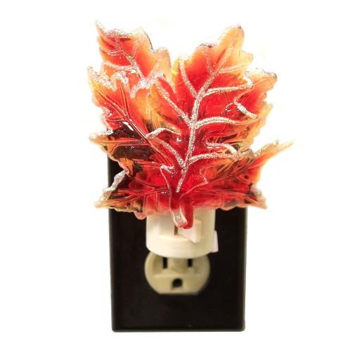 "Ganz 4.5"" Maple Leaf Night Light Autumn Thanksgiving Fall - image 1 of 2"