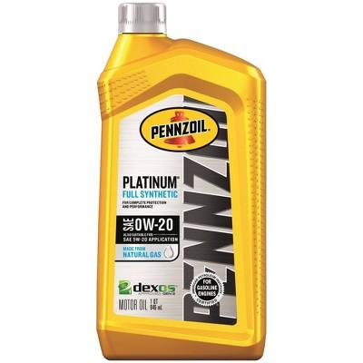 Pennzoil 0W-20 Platinum Synthetic