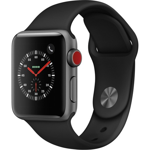 Apple Watch Series 3 GPS & Cellular 38mm Space Gray Aluminum Case with  Sport Band - Black